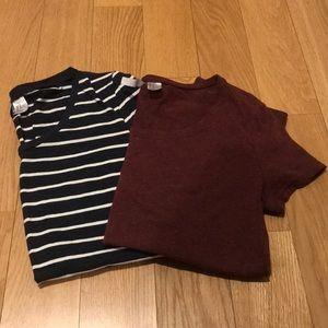 Bundle of 2 H&M Basic Crew Neck T-Shirts